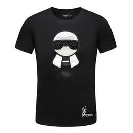 Hot Moda Verão Estrela Casual Tripulação Pescoço T Camisa dos homens de Alta Qualidade Tops Tees # 0429 Masculino de Manga Curta T-shirt Impresso Roupas de