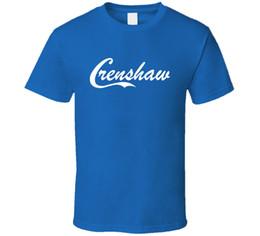 New Crenshaw T-shirt blu da uomo 100% cotone classica manica corta Fashion From US T-Shirt Maglietta estiva novità Cartoon da