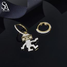 formas de mono Rebajas SA SILVERAGE 925 Pendientes de gota de plata esterlina chapados en oro amarillo color mono para mujer Zirconia Pendientes de plata animal