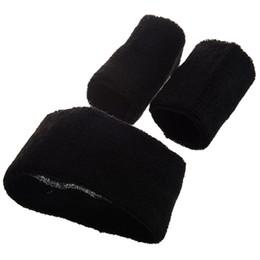 banda para la cabeza negra Rebajas 5Set Sale Black Retro 80's Head Muñequera Sweatband Set
