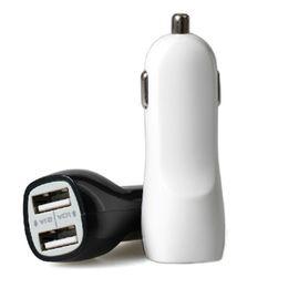 Caricabatteria da auto Dual USB 5V 2.1A 1A Caricabatteria da auto USB con doppia porta per iPad, per iPhone 4/5/6/6 plus Samsung Galaxy S3 S4 S5 Not 3 Note 4 Mp3 / Mp4 da
