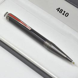 acessórios para placas Desconto Top qualidade Preto PVD-plated fittings caneta esferográfica / roller ball pen com o número da série de escritório papelaria homens de negócios de escrita canetas de tinta