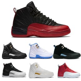 Wholesale Free Up Games - WholeSale Mens Basketball Shoes 12 12s TAXI Playoff Black Flu Game Cherry 12s XII Men Sneakers boots Free Shipping