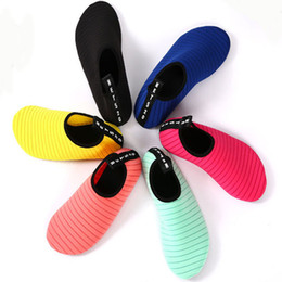 Wholesale Wholesale For Sports Shoes - Custom Logo Non-Slip Water Sports Diving Shoes Barefoot Yoga Soft Socks Slip-On Beach Snorkeling Shoes For Men Women Kids Free DHL G794F
