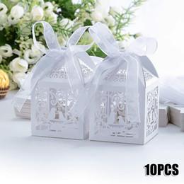 Argentina Nuevo 10pcs / pack Favor Box Mejor para cajas de dulces y favores de la boda Caja Evento Fiesta Suministros Suministro