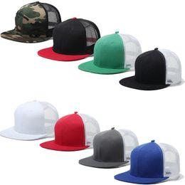 2019 sombreros de camuflaje gris Top de algodón de calidad superior plana Camo Gorra de béisbol Mesh Snapback sombreros de Hip Hop camuflaje negro blanco rojo gris azul real sombreros de camuflaje gris baratos