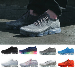 Wholesale Best Casual Shoes For Men - with box 2018 New Rainbow VaporMax BE TRUE Men Woman Running Shoes For best Quality Fashion Men Casual Vapor Maxes Sports Sneakers