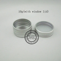 metal tea tin containers Australia - Free Shipping 10g (100pcs lot) Aluminum Case 10g Round Matte Aluminum Can Aluminum Container Tea Tin with window lid wholesale