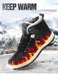 chaussure de marche sur neige Promotion Hommes Chaussures 2018 Nouvelle Hiver En Peluche Bottes De Neige Confortable Garder Au Chaud Sport En Plein Air Bottes de Marche Mâle Athlétique Sneakers Pour Adulte