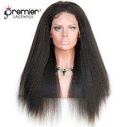 Premier 360 Full Lace Perruques de cheveux humains Remy Brésilien Perruques de cheveux humains 12-24