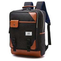 Sacos para estudantes universitários homens on-line-Bolsas Men Masculino Mochila College School Student para meninos Laptop Mochila Casual Travel Bag mochila Satchel infantil