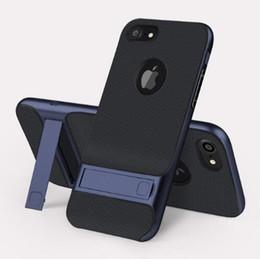 Cassa magnetica per il iphone online-Custodia per cavalletto per iPhone 7 8 Plus X Custodia per cellulare con supporto magnetico PC + TPU Custodia a 360 gradi per cover per iPhone 6 6s Plus