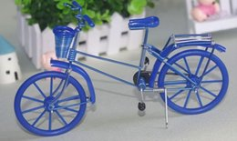 ciotole di porcellana bianco Sconti Nuovo artigianato handwork in metallo Strano nuovo desktop arredamento bici 20 * 13 * 6 cm cestino bici fai da te stoviglie