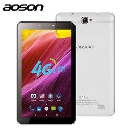 hd tabletas de cuatro núcleos Rebajas Aoson tablet S7 PRO 7 pulgadas tabletas 4G android 8GB ROM HD IPS Pantalla Android 6.0 Tabletas de llamadas telefónicas Tableta Quad Core dual sim