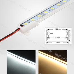 Tira de aluminio barra rígida de aluminio online-Barra de tira rígida del LED Luz 18W DC12V SMD5730 Tira 1M 45 Ángulo de frijol U Aluminio para armario de exhibición Gabinete DHL
