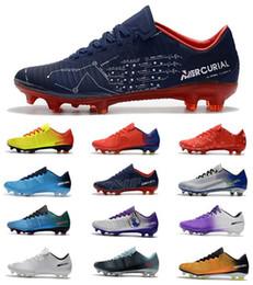 vapores para barato Desconto Baratos ACC CR7 Chuteiras De Futebol Mercurial  Vapor XI FG Top Sapatos 251b9cb49dd15