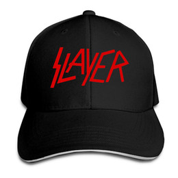Berretto da baseball delle coppie Slayer Metal Band Stampa Berretti da  baseball delle donne degli uomini Cappellini Snapback regolabili Cappelli  Uomo ... c528f38f5057
