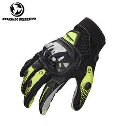 Мотоциклетные байкерские перчатки онлайн-ROCK BIKER Наружные мужчины четыре сезона Дышащие углеродные волокна мотоциклетные перчатки / гоночные перчатки / перчатки для верховой езды / Спорта на открытом воздухе Перчатки 4 цвета