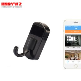 Wholesale Spy Remote Hook - Wholesale WiFi Hidden Camera Clothes Hook App View Remote Real-time Video With Loop video recording Spy Camera Wireless Home Security Camera