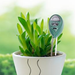 Ferramentas de jardim da bateria on-line-Soil Tester Medidor de Umidade, Luz e PH Testador de Acidez, 3 em 1 Kit de Teste de Solo Ferramentas de Jardinagem para a Planta, gramado, Fazenda, nenhuma Bateria Necessária