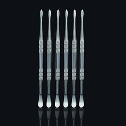 Micro g vidrio online-Acero inoxidable e cigarrillo herramienta dabber titanio dab clavo para cera seca hierba vidrio hace g5 vgo sartén micro atomizador g vaporizador pluma
