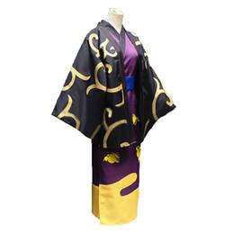 Kimono gintama online-GinTama shinsuke Takasugi kimono abrigo Cosplay shinsuke Takasugi Cosplay