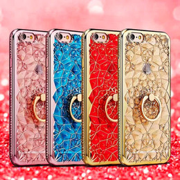 Wholesale Wholesale Champagne Cases - Glitter Crystal Rhinestone Bling Case for iPhone 6s 6 plus 7 plus Case 8 8 Plus Hoesjes X 10 Luxury Diamond
