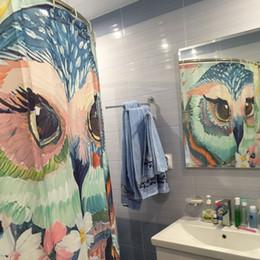 """Ganchos da coruja on-line-Eco-friendly coruja impressão Poliban Bath produtos Decoração do banheiro com Hooks 71x71"""" Waterproof"""