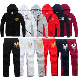 Wholesale Ankle Shop - 2018 TRUE Men's and women Zipper cardigan Sport Suits Tracksuits Hoodies Fashion Coats TR Jacket Pants Sportswear hoodies Free shopping
