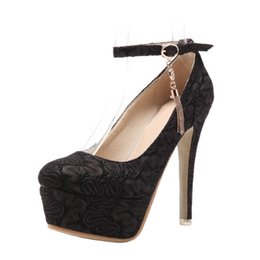 wedding shoes embroidery 2018 - SJJH 2018 Woman Embroidery Pumps with Round Toe and Stiletto Elegant Wedding Shoes for Fashion Sexy Women with Large Size Available A261
