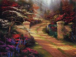 Paysage vert peinture à l'huile en Ligne-Paysage peinture à l'huile peinture sur toile la plante verte nature morte Style pas cher prix pour maison décoration YC334