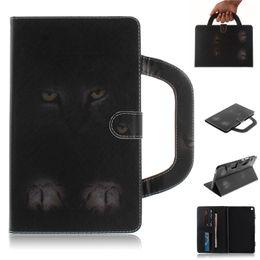 huawei mediapad case inch Скидка Чехол для планшета Huawei MediaPad T3 8.0 дюймов Ручка откидная крышка подставка кожаный кошелек цветной рисунок тигр лев волк коке