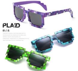 kinder gläser fällen Rabatt 4 farbe! Mode Sonnenbrillen Kinder cos spielen action Game Toys Minecrafter Square Brille mit EVA Fall Geschenke für Männer Frauen D022
