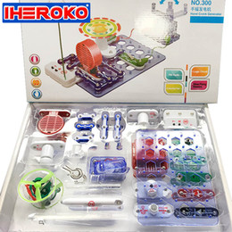 Wholesale circuit toy - Wholesale-Electronic Block Circuit Science Educational Learning Integrated Building Blocks Kit Creative Toy Physics Development Toys
