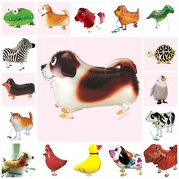 Wholesale Cat Zebra - Cartoon Helium Balloon Animal Zebra Tortoise Frog Cat Dog Shape Airballoon For Kids Aluminum Foil Air Balloons Wedding Decorations 2 16hl B