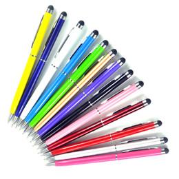10 pcs 13 couleurs Mini Métal 2 En 1 Écran Tactile Stylus Universel Rouleau Stylo À Bille Pour iPhone iPad Samsung Galaxy Tablet PC ? partir de fabricateur