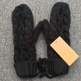 Wholesale Couple Gloves - brand designer women men couple mittens gloves knitted winter autumn thick warm