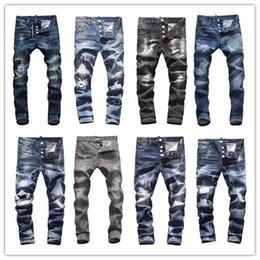 2019 männer hip hop denim shorts D2018 Männer Distressed Zerrissene Dünne Modedesigner Shorts Schlank Motorrad Moto Biker Kausalen Herren Denim Hosen Hip Hop Männer D2 Jeans # 9906 rabatt männer hip hop denim shorts