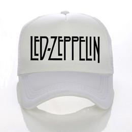 Berretto da baseball casual da uomo estivo in maglia Led Zeppelin Rock Band  Berretti da baseball fashion rock lettera regolabile cappello da camionista  ... ce95c4ccbe31