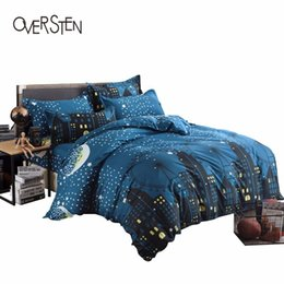 Wholesale Quilt Cover Double Size - OVERSTEN Jacquard Style Double Single Bedding Set King win Queen Size Duvet Cover 2 1 Scenic Pattern Bedding Kit Quilt Cover