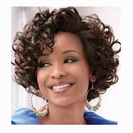 Wholesale Hot Short Hair - Hot Selling Fashion Ombre Short Bob Wave Cut Wig Wine Red Simulation Brazilian Human Hair Wigs full Wigs In stock Y demand