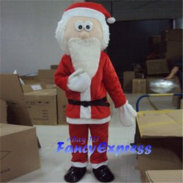 mascote trajes santa claus Desconto Papai Noel traje de mascote Natal Fancy Dress desempenho terno adulto