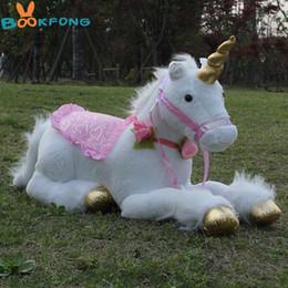 BOOKFONG 85cm Jumbo White Unicorn Plush Toys Giant Stuffed Animal Soft Doll  Home Decor Children Photo Props 7b3fb0d97cd1