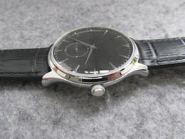 2019 relógio fino de safira 40mm Mestre Ultra Fino Q1358470 Pequeno Segundo Aço Inoxidável A896 homens automáticos relógio de cristal de safira wriswatch vestido de negócios relógios desconto relógio fino de safira