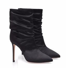 a7a3f760ccb botas de noche negras Rebajas Botas altas blancas de tacón alto para mujer  Botines negros de