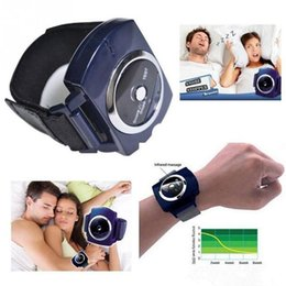 Wholesale Wrist Stop Watches - Intelligent Infrared Anti Snoring Device Stop Solution Cessation Wristband Watch Snore Gone Nasal Strips