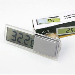 termômetros para carros Desconto Display de Cristal Líquido transparente Termômetro Tipo Otário Do Carro Termômetro De Metal Casa Termômetros Digitais de Alta Qualidade 4 8sm X