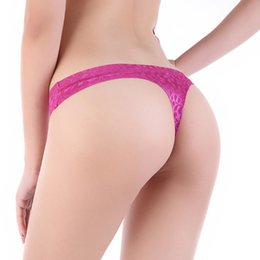 Wholesale Shorts Crotch - Sexy G-String Women's Panties Jacquard Weave T-shaped Woman Underpants The Bottom Crotch Of Forming Within Shorts thong