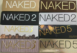 Wholesale eye make up palette - 2018 new Naked makeup eyeshadow palettes eye shadow pallet 12 color NUDE 1.2.3 decay Makeup Naked Palettes chocolate bar Make up