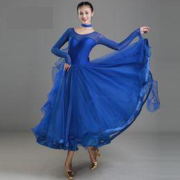 nouvelles conceptions de robes modernes Promotion Nouveau Design Femmes Moderne Robe De Danse De Danse Pour Danse De Danse Valse Tango Espagnol Robe De Flamenco Standard